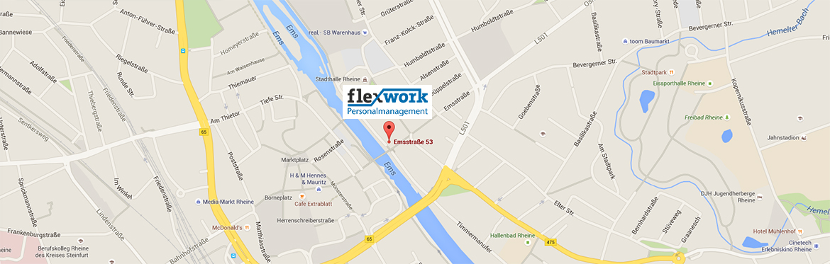 contact us flexwork map